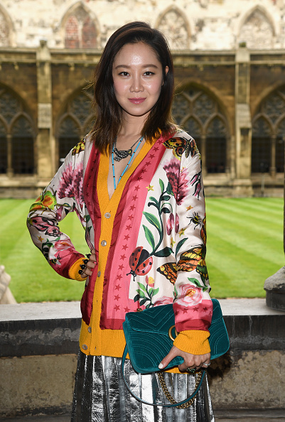 LONDON, ENGLAND - JUNE 02: Kong Hyo Jin attends the Gucci Cruise 2017 fashion show at the Cloisters of Westminster Abbey on June 2, 2016 in London, England. (Photo by Venturelli/Getty Images for GUCCI)